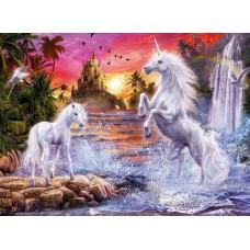 Картина-раскраска по номерам «Единороги» 40*50 см