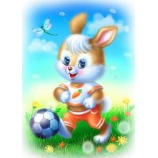 Картина-раскраска по номерам «Зайчик с мячом» 30*40 см