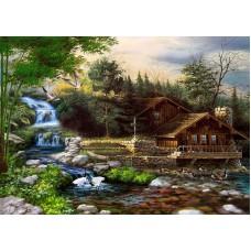 Картина-раскраска по номерам «Журавли у ручья» 40*50 см