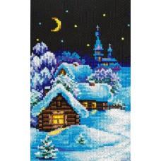 Алмазная мозаика «Зима в деревне» 20*30 см