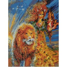 Картина-раскраска по номерам «Знак зодиака. Лев» 40*50 см